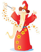 Funny cartoon wizard — Stockvector