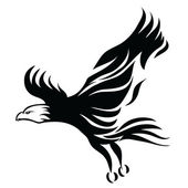 Black eagle design — Stockvector