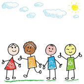 Doodle bambini — Vettoriale Stock