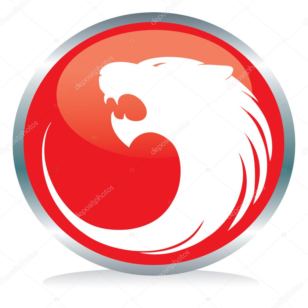 Vactor illustration of a red tiger's button sign  Stock Vector #2275102