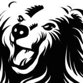 Orso arrabbiato — Vettoriale Stock
