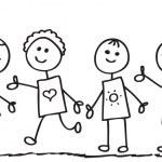 Doodle kids — Stock Vector