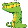 Stock Vector: Funny crocodile