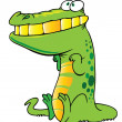Royalty-Free Stock Obraz wektorowy: Funny crocodile
