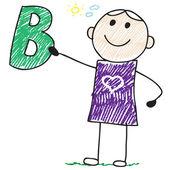 B letter — Vetor de Stock