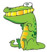 Funny crocodile — Stockvector