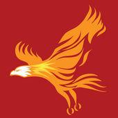 燃烧之鹰 — 图库矢量图片