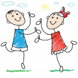 Stock Vector: Children dancing