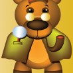 Bear detective — Stock Vector #2527305