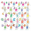 Royalty-Free Stock Vector Image: Doodle alphabet