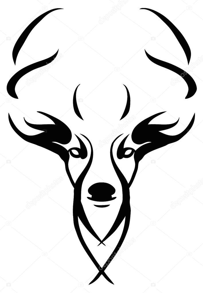 рисунок олень тату