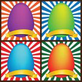 4 пасхальные яйца — Cтоковый вектор