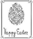 Happy Easter card — Stok Vektör