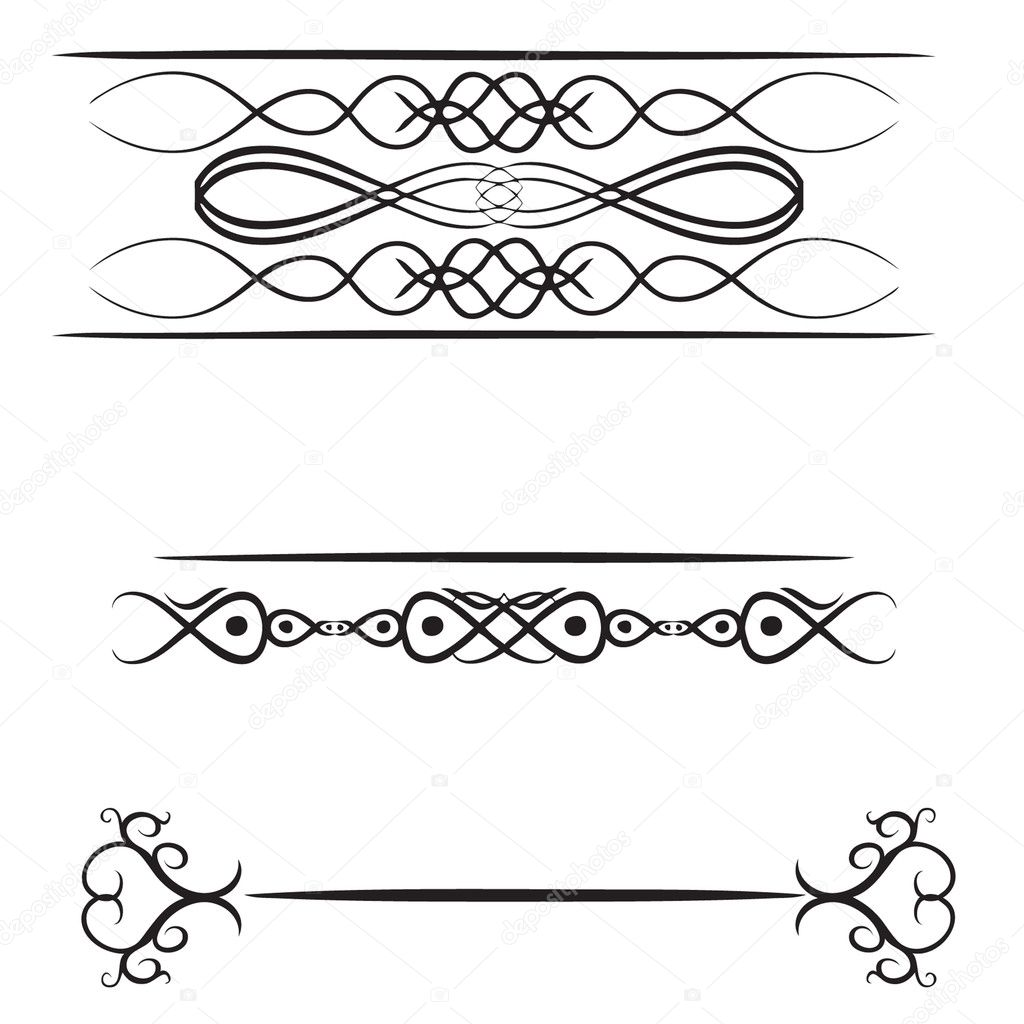 Design of a three vignettes  Stock Vector #2557577