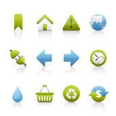 Zestaw ikon - ekologia — Wektor stockowy