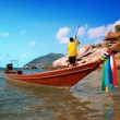 Thai Longtail Boat Scene - Stock Photo