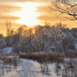 Winter Park-Sonnenuntergang — Stockfoto