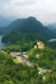 Hohenschwangau castle in German Alps — Stock Photo