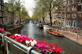 Channel in Ansterdam — Stock Photo