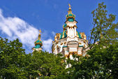 Orthodox Church Domes in Kiev Ukraine — Stock Photo