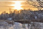 Winter Park Sunset — Stock Photo