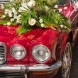 Bridal limousine — Stock Photo