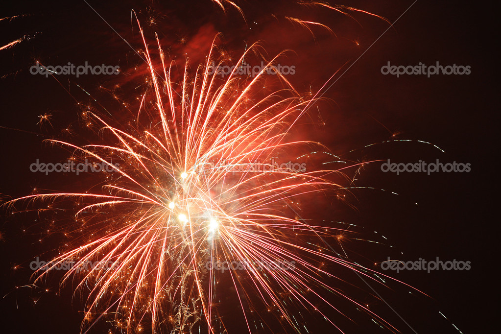 Brilliant display of fireworks with night sky — Stock Photo #2518057