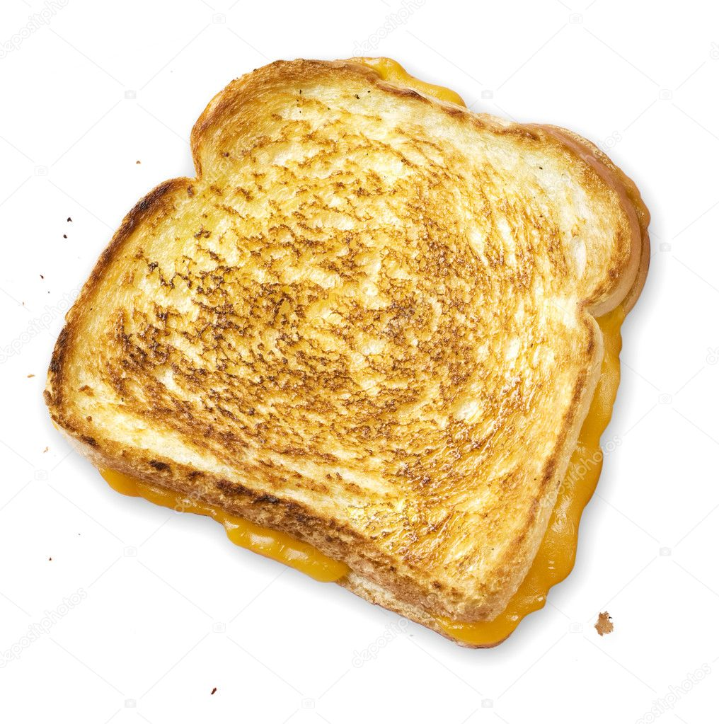 An appetizing grilled cheese hot out of the skillet — Stock Photo #2133334
