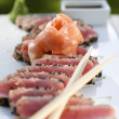 Sesame and Peppercorn Encrusted Tuna — 图库照片
