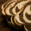 Pumpernickel and Rye Swirl Bread — Stock Photo