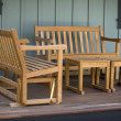 Old-Fashioned Porch Wooden Furniture — Stock Photo #2193072