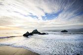 West Coast Shore at Sunset - Horizontal — Stock Photo