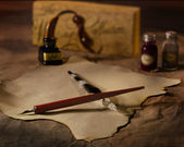 Old-Fashioned Calligraphy Set — Stock Photo