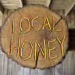 Local Honey Sign — Stock Photo