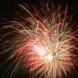 Spidery fireworks - Stock Photo