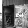 Straw Maze in Rural Barn — Stock Photo #2294130