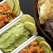 Salsa and Guacamole Appetizer - Stock Photo