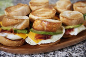 Egg and Avocado Breakfast Sandwiches — Stock Photo