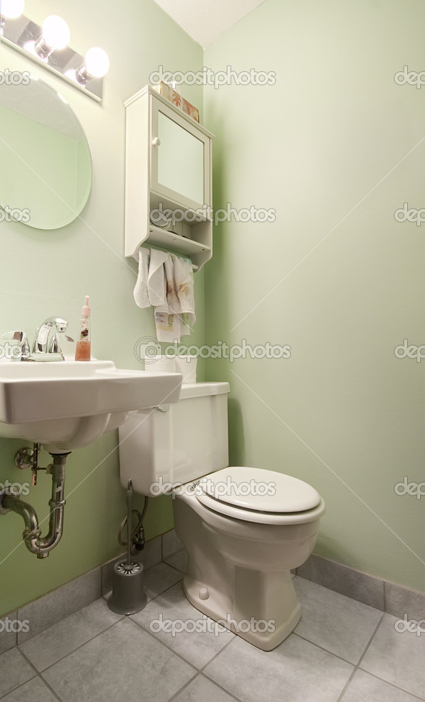 Sage Green Bathroom Stock Photo 2294155