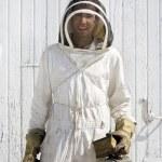 Smiling Beekeeper — Stock Photo