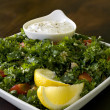 Tabbouleh Salad with Dip — Stock Photo #2414419
