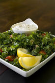 Tabbouleh Salad with Dip — Stock Photo