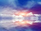 Sky reflection — Stock Photo