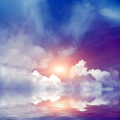 Solar sky and water — Stock Photo