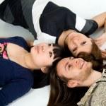 Happy three friends studio shot — Stock Photo #2212373