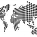 Worldmap white — Stock Photo