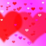 Heart valentines background. — Stock Photo