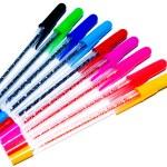 Multi-coloured ballpoints — Stock Photo