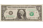 En dollar bill. — Stockfoto