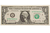 En dollar bill. — Stockfoto